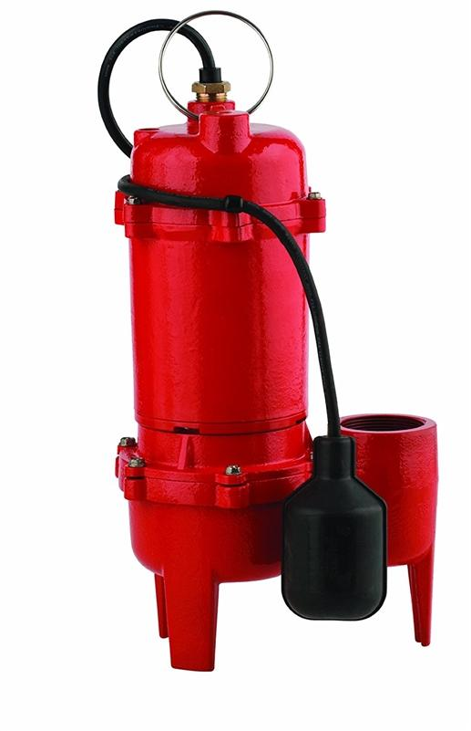 Red Lion 14942748 1/2-HP 5600-GPH Sewage Pump with Tethered Switch, Cast Iron