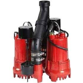 Red Lion 14942771 1/3 HP Dual Automatic Cast Iron Sump Pump System Red