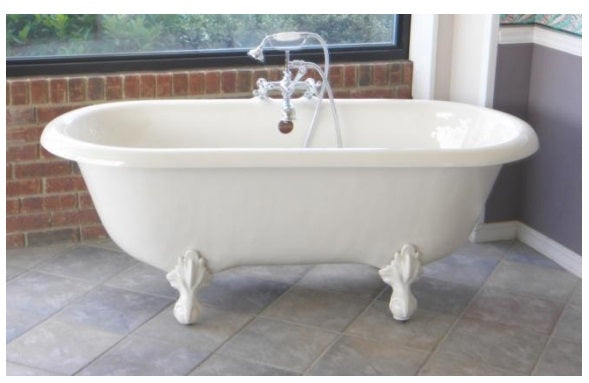 "Restoria Marquis 66"" Double-ended Acrylic Clawfoot Bath Tub"
