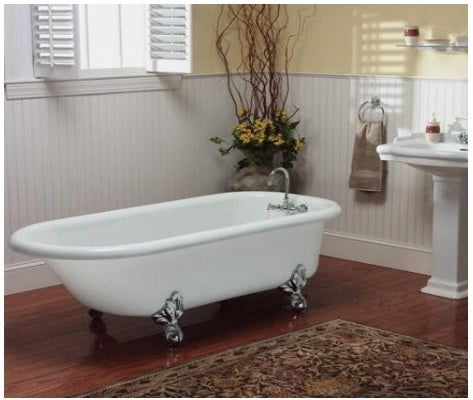 "Restoria Monarch 66"" Clawfoot Acrylic Bath Tub"