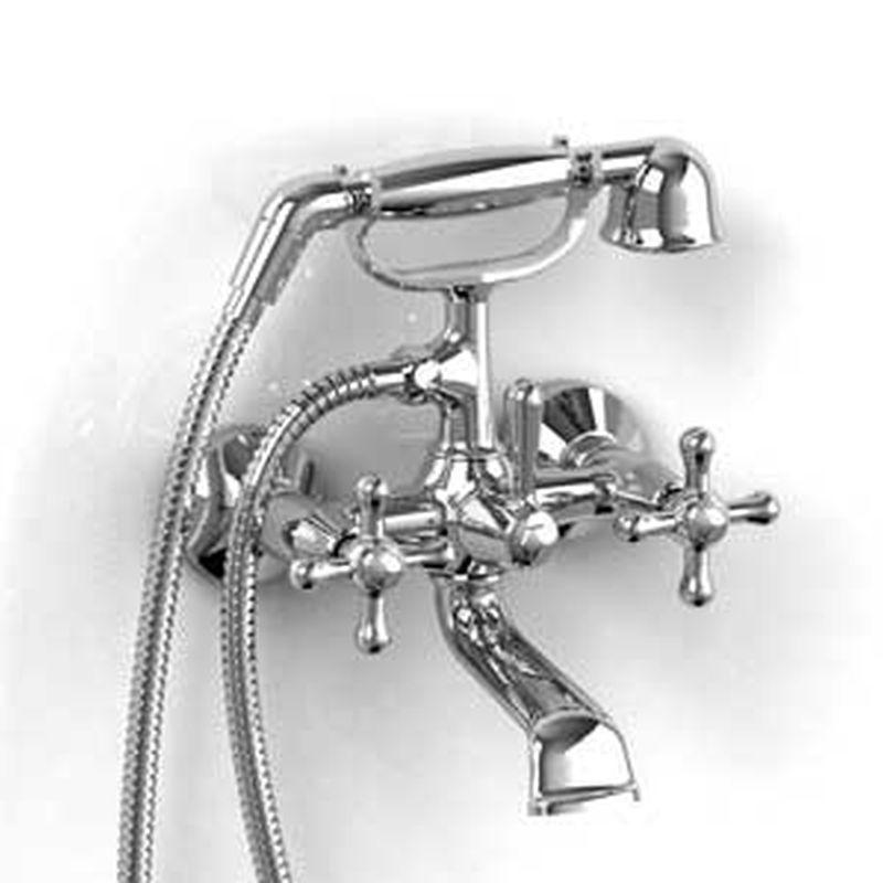 "Riobel Manhattan Collection MA06-C 6"" tub filler w/ hand shower Chrome"