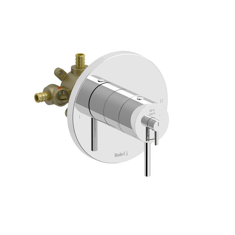 Riobel NJ94C-SPEX 2-way no share Type T/P (thermostatic/pressure balance) coaxial complete valve PEX