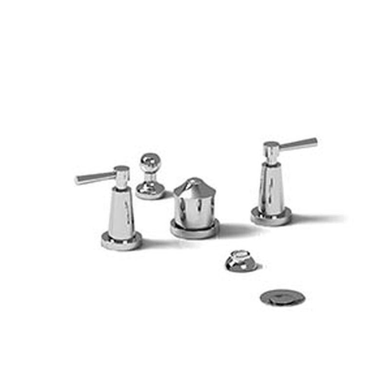 Riobel Pallace Collection PA09LC 4-Piece Bidet Faucet w/ Integrated Vaccum Breaker Chrome