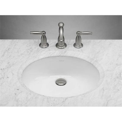 Ronbow 200513-WH Oval Ceramic Undermount Bathroom Sink - White