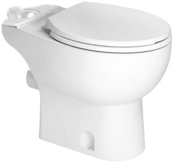 Saniflo 083 Toilet Bowl Rear Spigot Bowl Round Front White