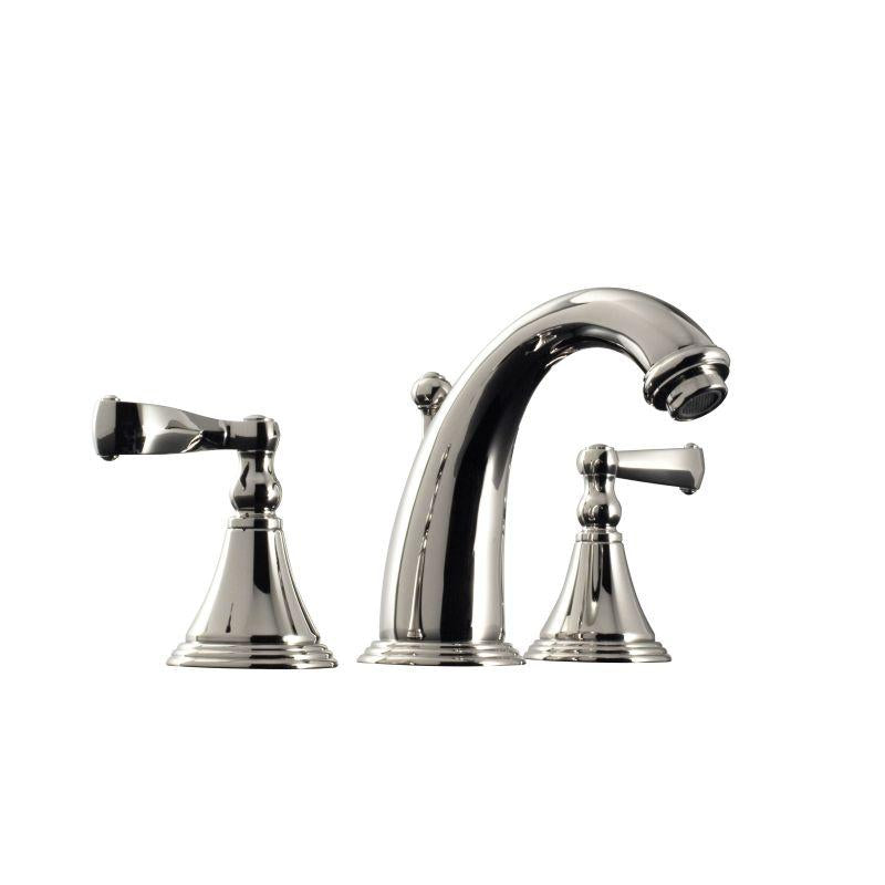"Santec 2220CN75 KRISS Widespread Lavatory W/ Cn Handles (Includes 1/2"" Valves And 1-1/4"" Pop-Up Drain Assembly W/Overflow) Spout Cxc 5"", Height Of Spout End From Base 4-1/2"" Satin Nickel"