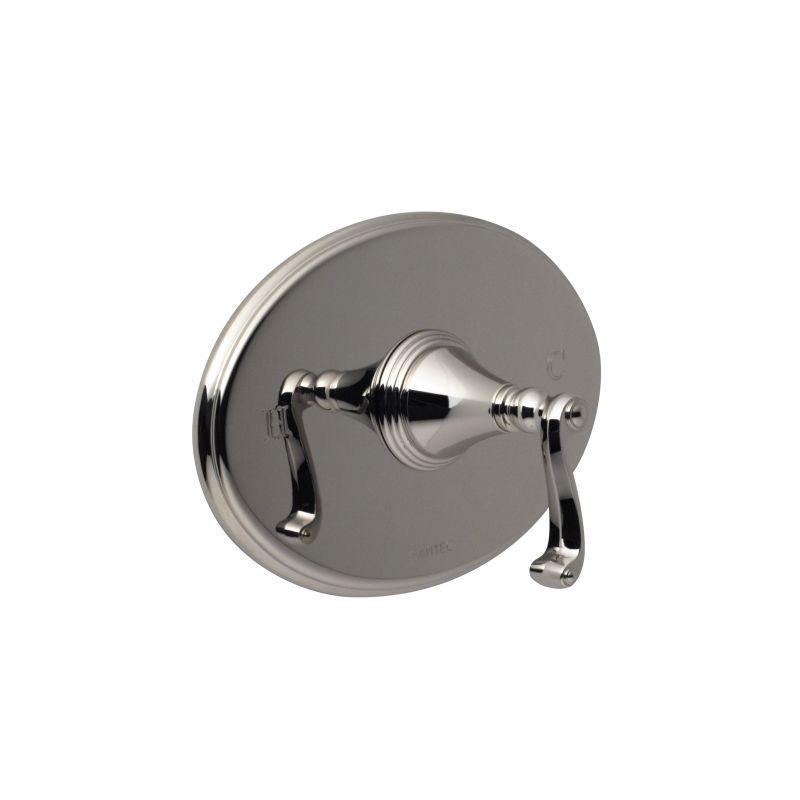 Santec 2231CN70-TM KRISS Pressure Balance Shower - Trim Only W/ Cn Handle (Includes Standard Shower Plate And Handle) Valve Not Included Uses Pb-3800 Valve Polished Nickel