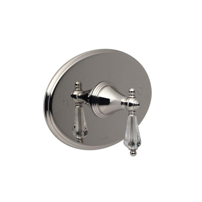 Santec 2231KC70-TM KRISS CRYSTAL Pressure Balance Shower - Trim Only W/ Kc Swarovski Crystal Handle (Includes Standard Shower Plate And Handle) Valve Not Included Uses Pb-3800 Valve Polished Nickel