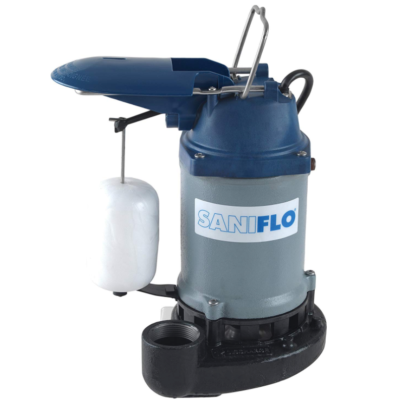 Saniflo 047 Sanipump 1/2 hp Submersible Sump Pump