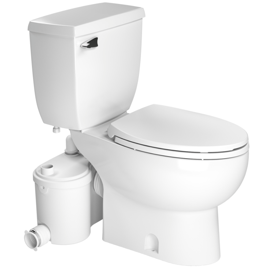 Saniflo Sanibest Pro Upflush Toilet Kit w/ Elongated Bowl