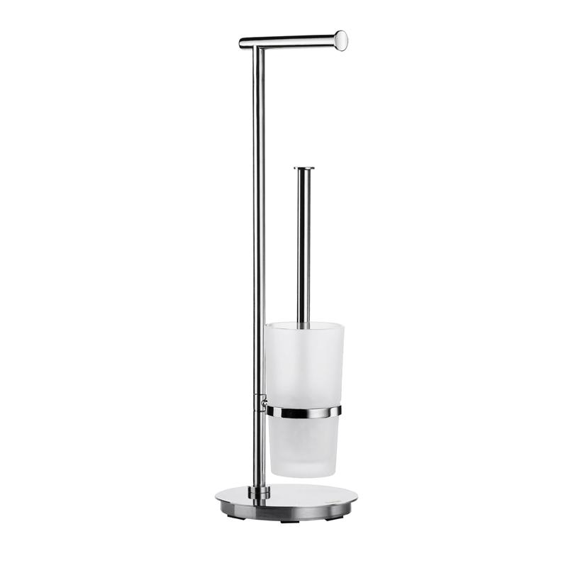 Smedbo FK607 Outline Lite Toilet Roll Holder/Toilet Brush Stainless Steel Polished