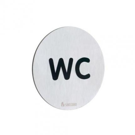 Smedbo FS958 Water Closet Sign Wc Brushed Stainless Steel