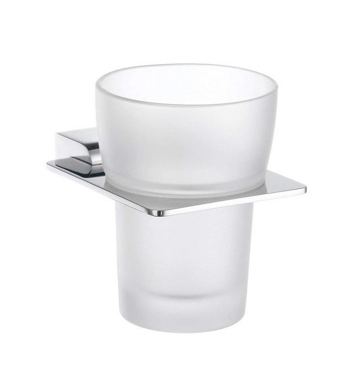 Smedbo PK343 Spa Holder With Tumbler Stainless Steel Polished