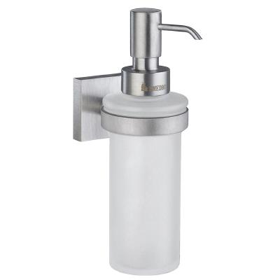 Smedbo RS369 House Holder With Glass Soap Dispenser Brushed Chrome