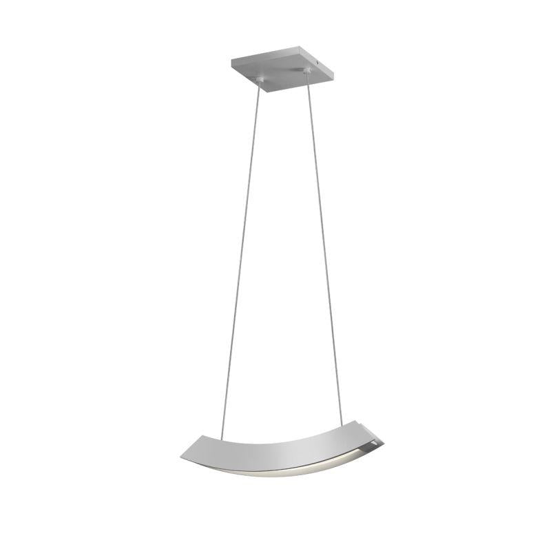 Sonneman 1740.16 Kabu Small LED Pendant Bright Satin Aluminum