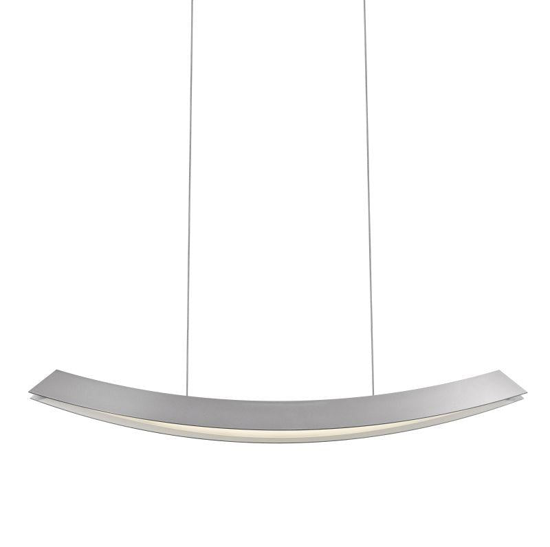 Sonneman 1742.16 Kabu Large LED Pendant Bright Satin Aluminum