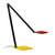 Sonneman 2050.69 Quattro LED Task Lamp Red/Yellow/Black