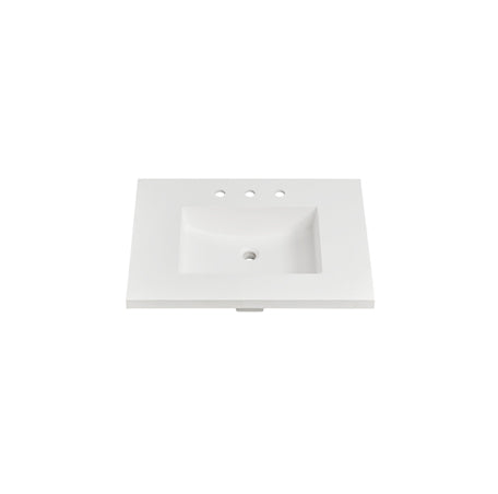 "Fairmont Designs TS4-S3122MW8 4cm (1- 1/2"") 31"" Matte White (MW) Solid Surface Top - 8"" spread"