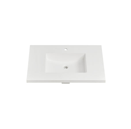 "Fairmont Designs TS4-S3722MW1 4cm (1- 1/2"") 37"" Matte White (MW) Solid Surface Top - single hole"
