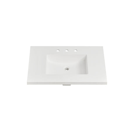 "Fairmont Designs TS4-S3722MW8 4cm (1- 1/2"") 37"" Matte White (MW) Solid Surface Top - 8"" spread"