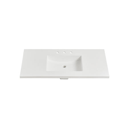 "Fairmont Designs TS4-S4322MW8 4cm (1- 1/2"") 43"" Matte White (MW) Solid Surface Top - 8"" spread"