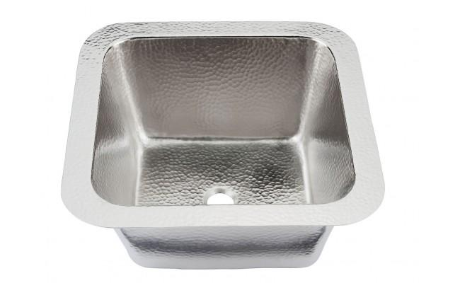 Thompson Traders 1S-BRN Hammered Nickel Picssao Handcrafted Brushed Nickel Bar Sink