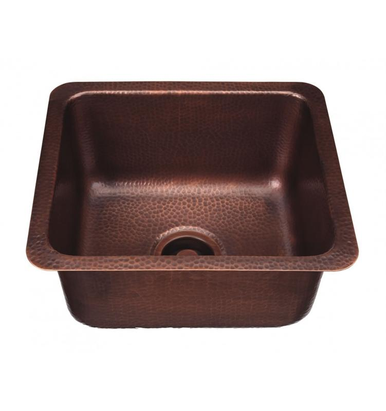 Thompson Traders KPU-1715HA Como Rect. Hand Hammered Copper Prep-Sink