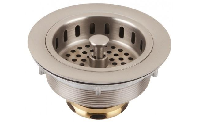 "Thompson Traders TDB35-BRN Basket Strainer 3.5"" Brushed Nickel"
