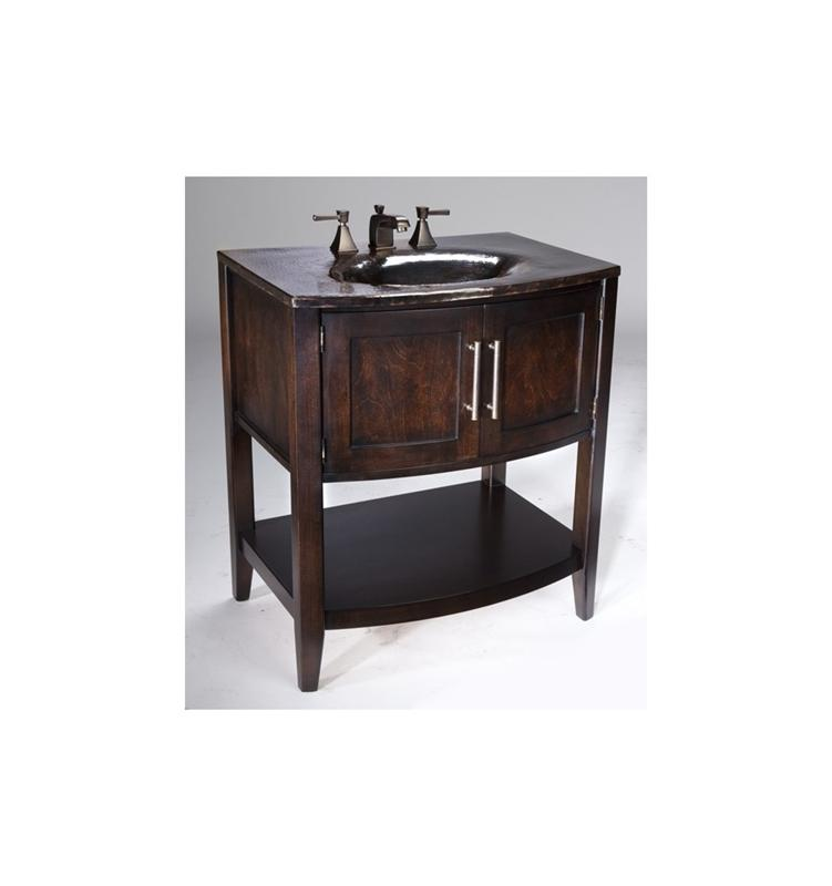 Thompson Traders VT-BN Black Nickel Verisimo Wood Vanity w/ Handcrafted Integrated Sink in Black Nickel