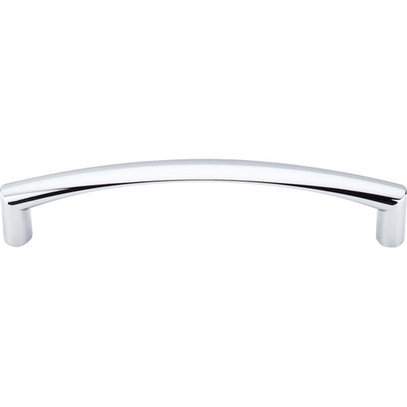 "Top Knobs M392 Nouveau Griggs Pull 5 1/16"" (c-c) - Polished Chrome"