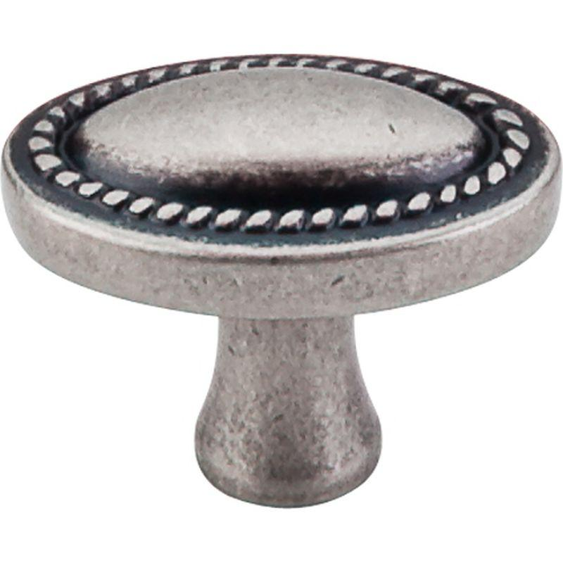 "Top Knobs M401 Somerset II Oval Rope Knob 1 1/4"" - Pewter Antique"