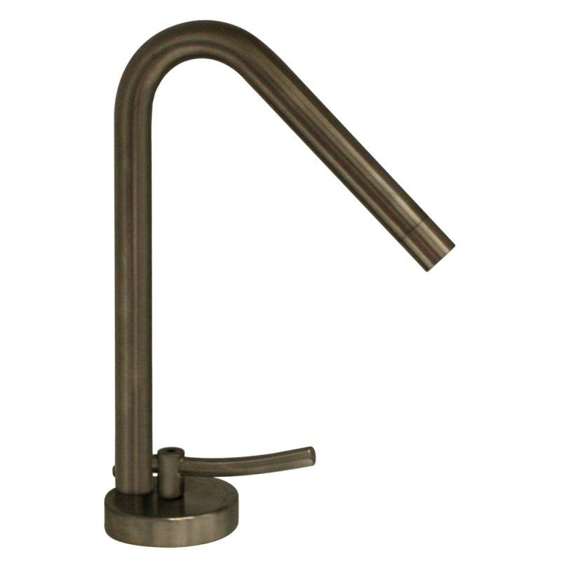 Whitehaus WH81211-BN Metrohaus single hole faucet w/ 45-degree swivel spout, lever handle and pop-up waste - Brushed Nickel