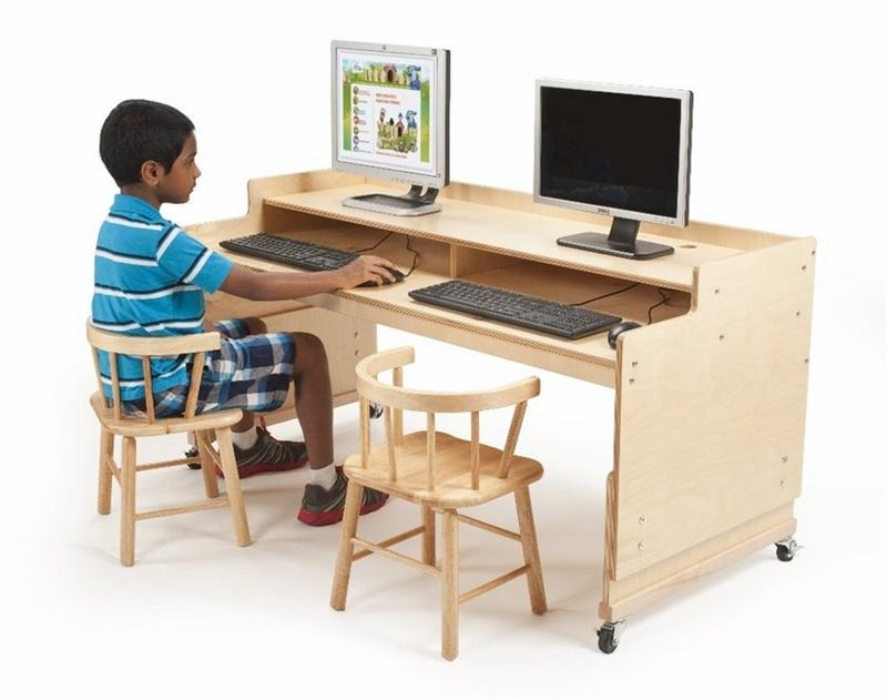 Whitney Brothers WB0483 Adjustable Computer Desk Natural UV