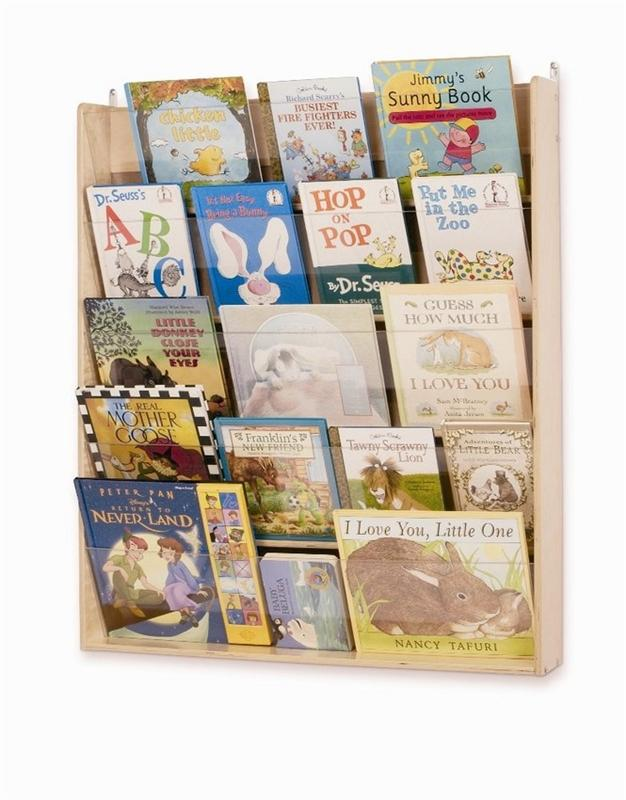 Whitney Brothers WB0600 Wall Book Display Natural UV