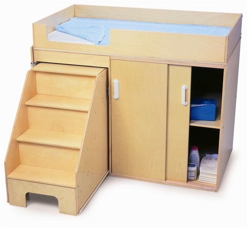 Whitney Brothers WB0648 Step Up Toddler Changing Cabinet Natural UV