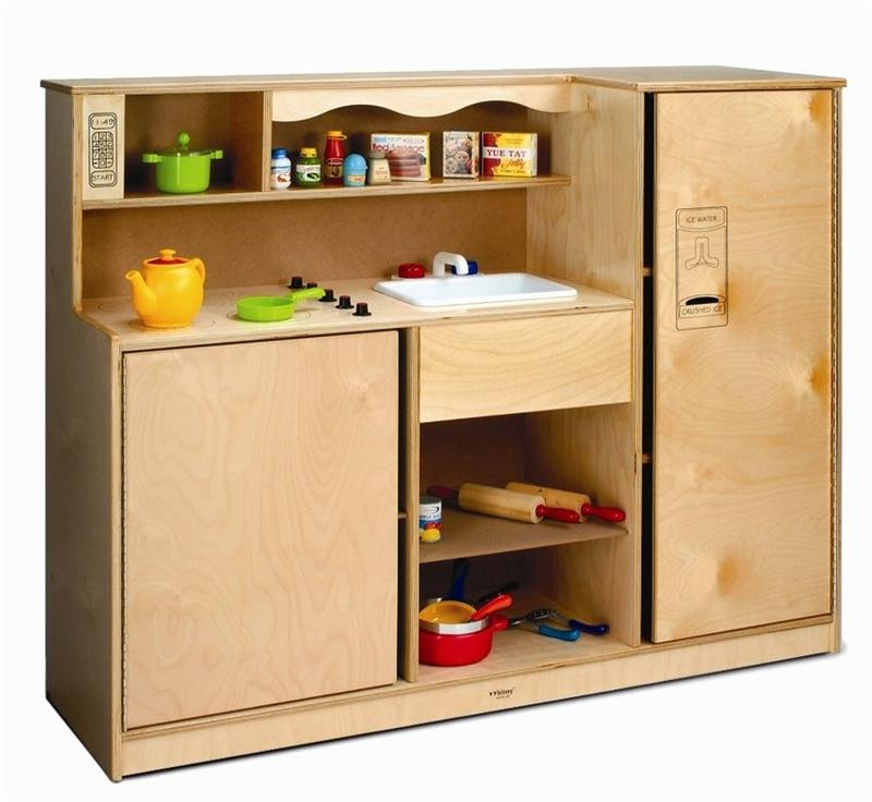 Whitney Brothers WB0770 Preschool Kitchen Combo Natural UV