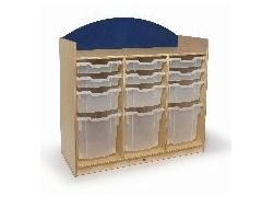 Whitney Brothers WB8303S Rainbow Tray Storage Cabinet Blue Natural UV