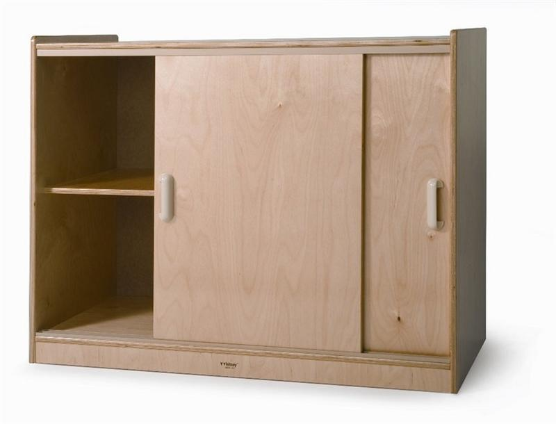Whitney Brothers WB9698 Sliding Doors Storage Cabinet Natural UV