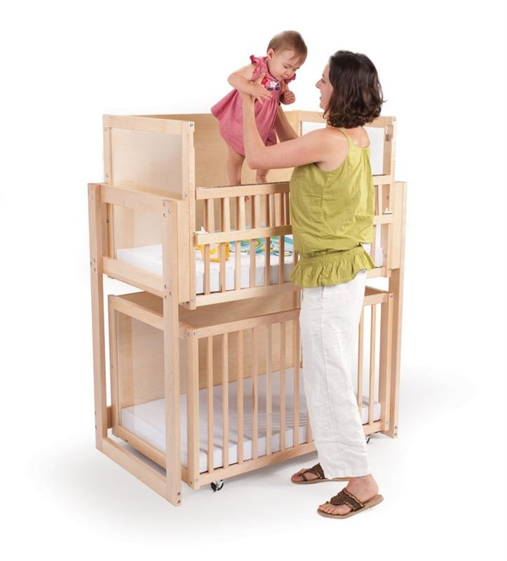 Whitney Brothers WB9920 Space Saver Two Level Crib Natural UV