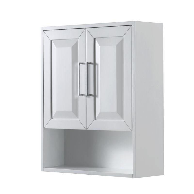 Wyndham WCV2525WCWH Daria Wall-Mounted Storage Cabinet in White