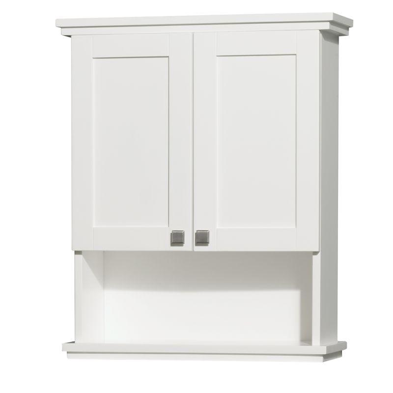 Wyndham Acclaim Solid Oak Bathroom Wall-Mounted Storage Cabinet in White