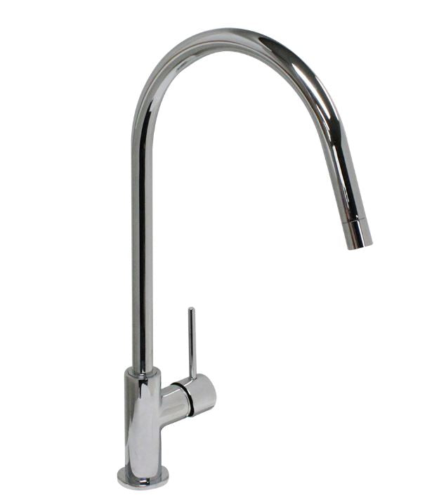 500670-PCH Ottone Meloda Adrianna PCH Single Hole Kitchen Faucet, Polished Chrome