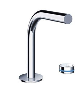 Blu Bathworks TEP131 Pure 2 Electronica Two-Hole Deck-Mounted Bath Faucet w/ Electronic Valve Control Chrome