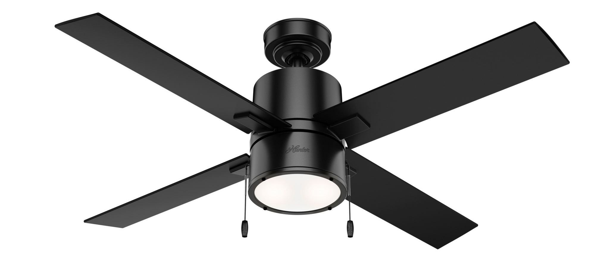 Hunter Indoor Beck Ceiling Fan with LED LightJD inch, Black, 54215