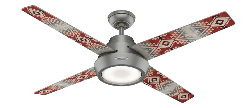 Hunter Indoor Pendleton Ceiling Fan with LED LightJD inch, Brushed Nickel/Chrome, 59390