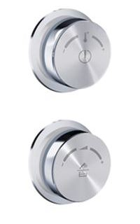 Blu Bathworks PT7005 Duo 2 Wall-Mount Control Wheel Kit (Handshower/Rainshower Icons)