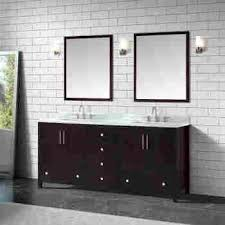 "Azzuri ROCKFORD-VS72-DE-C Rockford 73"" Double Sink Vanity in Dark Espresso finish with Carrera White Marble Top"
