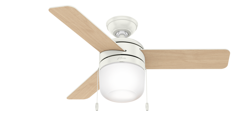 Hunter Indoor Acumen Ceiling Fan with LED LightJD inch, White, 59409