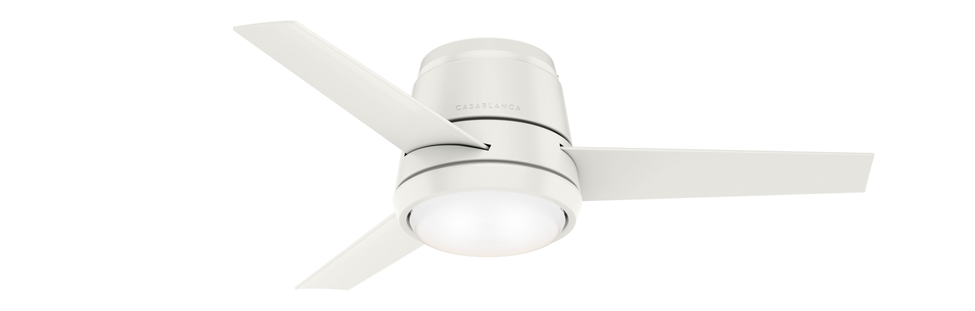 Casablanca Indoor Low Profile Commodus Ceiling Fan with LED LightJD inch, White, 59568
