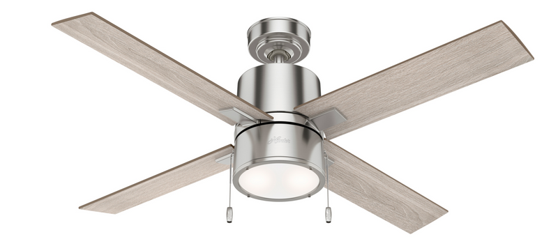 Hunter Indoor Beck Ceiling Fan with LED LightJD inch, Brushed Nickel/Chrome, 54214